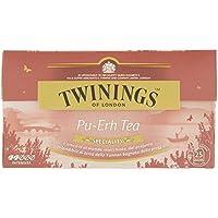 Twinings Speciality - Pu-Erh Tea - Té Pu-Erh de la Provincia de Yunnan - Color Intenso de Caoba, Fragancia Caduca de Maleza - Sabor Suave y Persistente - Ideal para el Desayuno Salado (25 Bolsas)
