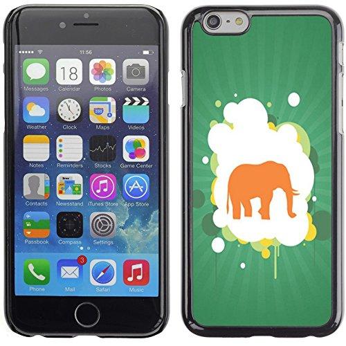 Graphic4You Elefant Tier Drawing Painting Design Harte Hülle Case Tasche Schutzhülle für Apple iPhone 6 Plus / 6S Plus Design #5