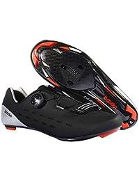 Lixada Zapatillas de Ciclismo Zapatillas de Carretera de Fibra de Carbono Ultraligeras Zapatillas Deportivas de Ciclismo