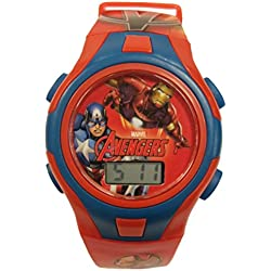 Official Marvel Avengers Childrens Digital Wrist Watch in Character Tin 56404