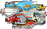 Feuerwehr Krankenwagen Cartoon Wand...