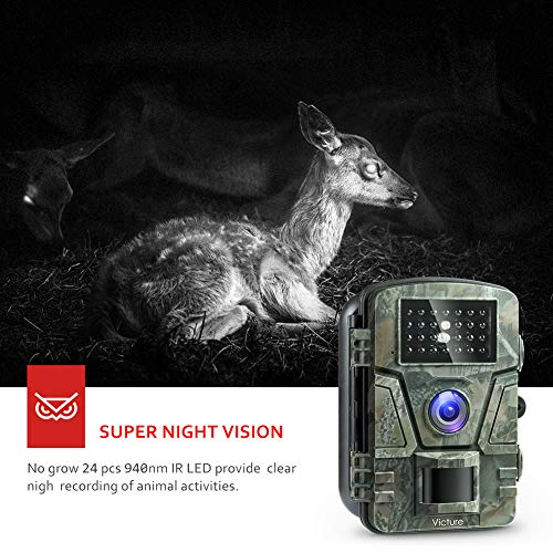 Victure IP66 Wildlife Trail Camera Trap 12MP - Best Security