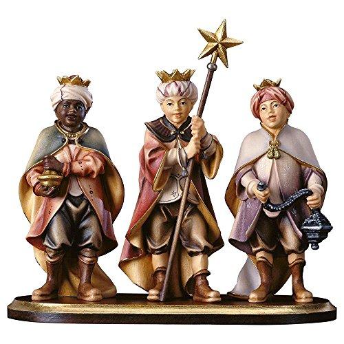 Progettazione in vero legno HI Tre carolers su console stand - 4 parti, adatto per 10cm figure della Natività, Colore