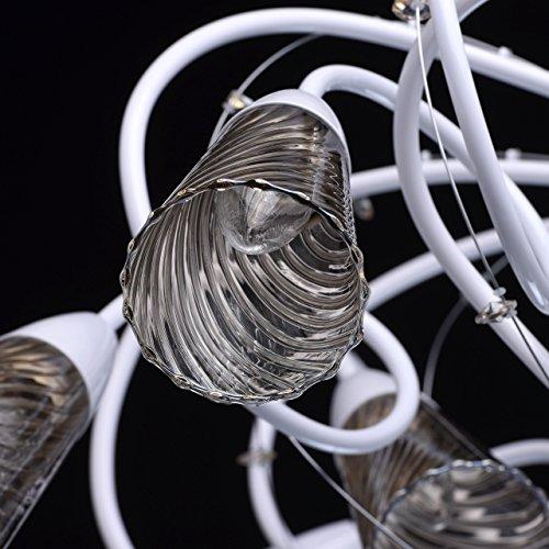 Industriedesign art-deco Deckenleuchte Kronleuchter xl modern weißes Metall - 6