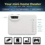 ET Bazar 1200 LUMENS Mini LED Portable Projector Support USB/SD Card/Set-UP Box/Gaming Console/Audio Input for Home...