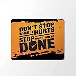 Mouse Pad | Motivational Quotes Designer Mouse Pad | Designer High Quality Waterproof Coating Gaming Mouse Pad