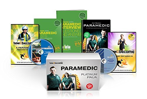 PARAMEDIC Recruitment PLATINUM Package Box Set: How to Become a Paramedic Book, Paramedic Interview Questions and Answers, Paramedic Tests, ... Fitness Test CD (How2become) (Career Kit) by Richard McMunn (2014-07-01)