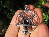 925-Argento-capra-Baphomet-invertito-Satanico-pentagramma-ciondolo-collana