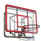 Bee-Ball zy-022 NBA Größe Basketball Rückwand mit verstärktem Plexiglas & Flex Ring INC Wandmontage Halterung und Montagekit