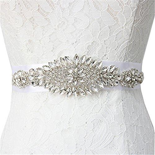 Trlyc Crystal wedding cintura/fascia nuziale cintura applique da sposa Sash applique trlyc champagne ribbon