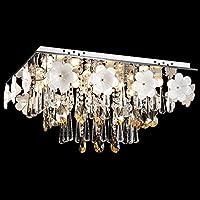 CNMKLM Romantico fiori di cristallo Soggiorno Lampade da soffitto ristorante di lusso Soffitto Camera luminosa sala di studio Apparecchi da soffitto