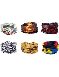 86d6b4138a7 Bundle Monster 6pc Multifunctional Seamless Style Bandanna Hairband  Headwear Scarf Neck Wrap Beanie Cap - Mixed