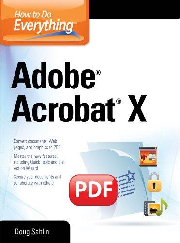 How to Do Everything Adobe Acrobat X (English Edition) eBook: Doug ...
