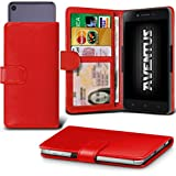 Aventus (Red) Archos 55 Helium Lite Case Premium PU Leather