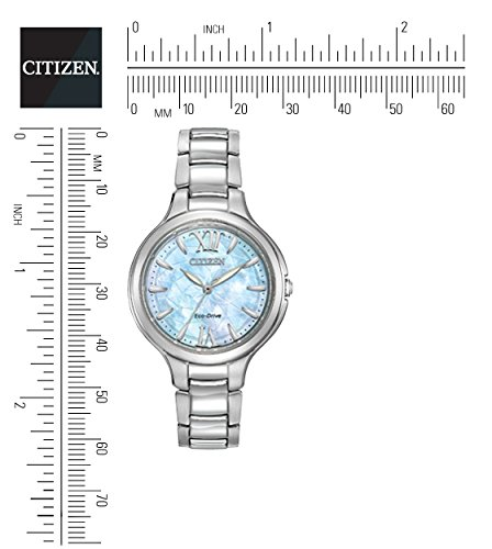 Citizen Watch SILHOUETTE women's quartz Watch with mother of pearl Dial analogue Display and silver stainless steel Bracelet EP5990-50D
