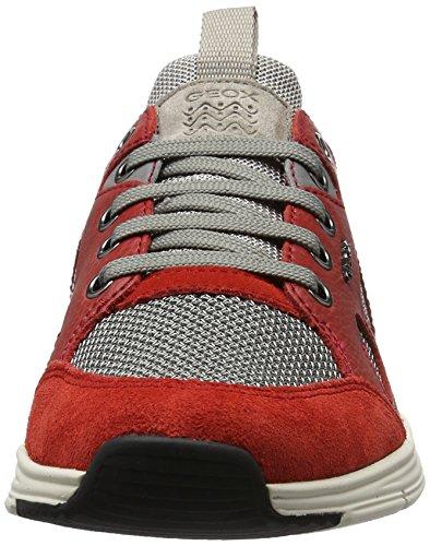 Geox U Snapish B, Sneakers Basses Homme Rouge (Rock/Redc5Y7V)
