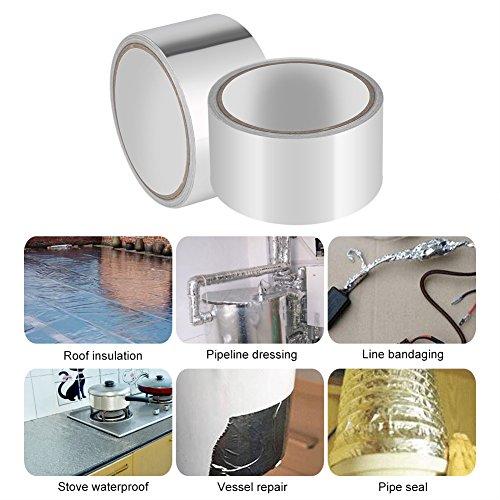 Aluminium Folie Klebeband, hitzebeständig Vereitelt Tape Rollen für Klimaanlage Reparatur, Kanäle, Isolierung, Trockner, Jewelry & Basteln, (1Pack) -