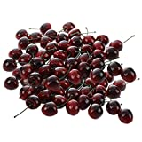 EQLEF® 36 Pezzi artificiale ciliegia frutta artificiale decorativo , plastica Plastic Food, Cherry artificiale per la decorazione
