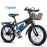 Bike 7 velocità Bicicletta Bici per Bambino 18 20 Pollici Mountain, Unisex BMX,Blue,18In