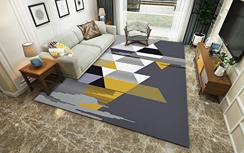 Elfenbein/Creme Geometric Design Wohnzimmer Teppich Winter Isolierung S - XXXL Modern Mehrzweck Bodenmatte,Gray,100x160cm