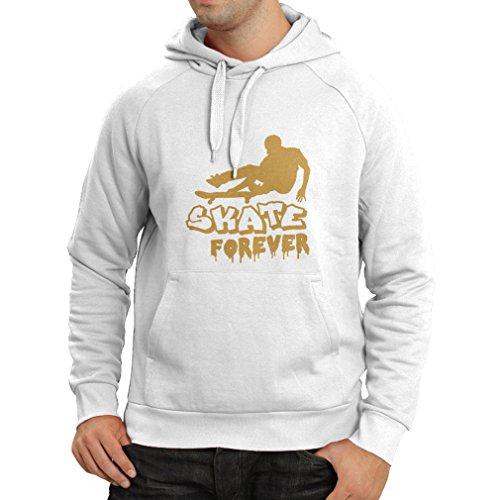 Felpa con cappuccio Skate Forever Bianco Oro