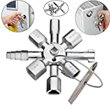 Chiave multifunzione 10 in 1, in acciaio inox, a croce, per elettricista e idraulico, portatile, apribottiglie, strumento di bellezza