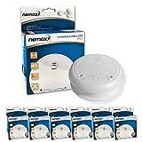 6X Nemaxx WL2 detectores de Humo inalámbricos - con DIN EN 14604