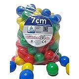Bällebad Bälle 7cm (400) in Kindergarten & Gewerbequalität Babybälle Plastikbälle ohne gefähliche Weichmacher (TÜV zertifiziert = fortlaufende Prüfungen seit 2012)