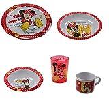 Kindergeschirr Set Melamingeschirr Geschirr Melamin Winnie Pooh Cars Hello Kitty Minnie Mouse NEU, Motiv:Minnie