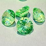 Hamburg-Trade Deko Diamanten–20mm–Für Tisch/Hochzeit Dekoration–Apple Green–glänzend