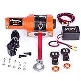 Rhino 12V Verricello Elettrico con Telecomando Dyneema/Corda Sintetico 3000lb / 1360kg