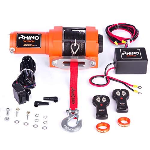 Rhino - Treuil électrique - télécommande sans fil - câble Dyneema/plus dur que l'acier - 12 V - 1360 kg