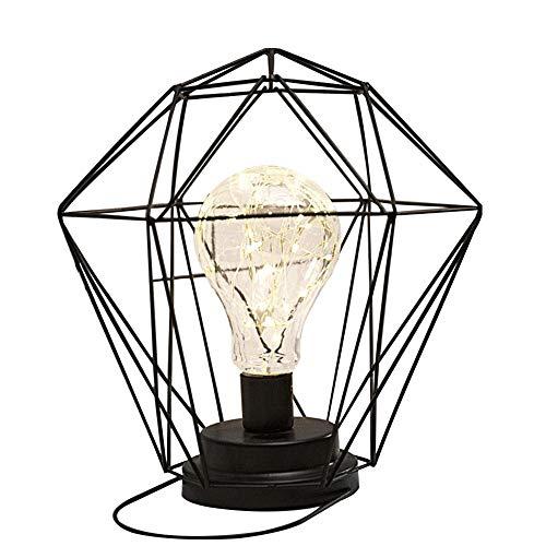 Oshide Iron Geometric Shape Lámpara de mesa estilo nórdico Home/Office Decor Pretty Ornament
