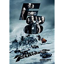 THE FATE OF THE FURIOUS - Fast and the Furious 8 – German Movie Wall Poster Print - 30CM X 43CM Brand New