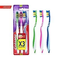 Colgate Zigzag Toothbrush Medium 3 Pack Value Pack