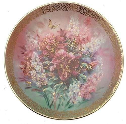 The Bradford Exchange c1992Lena LIU Hibiskus Medley Symphony of schimmernden Beauty Teller cp1559 -