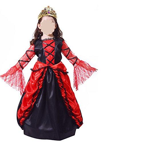 ween Kinderkleidung Kostüm-Partei Fledermäuse Vampir Graf,C-130-140cm (Gemütliche Fledermaus Kostüme)