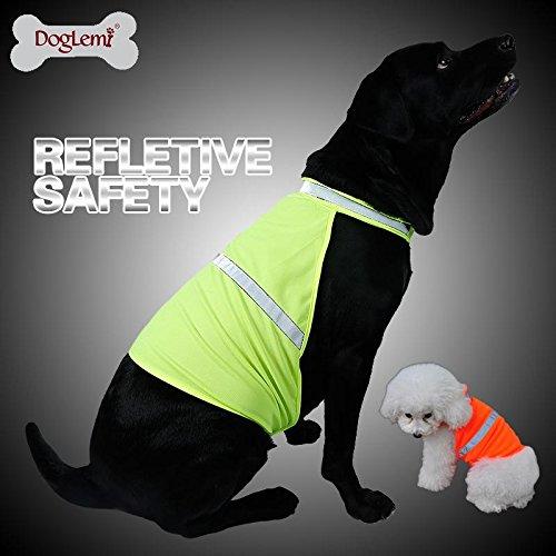 GYF Hund Pet Warnweste HUND Jagd Sicherheit Weste Jacke High visivility Weste Neon Farbe (Jacke Hund Sicherheitsweste)