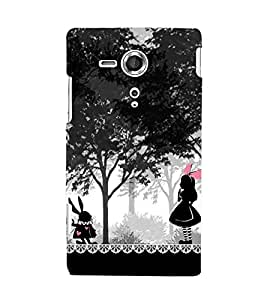 Unique Print Back cover for sony Xperia SP