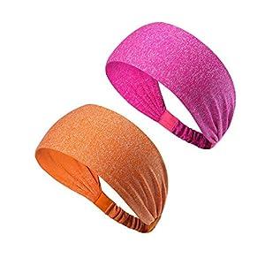 d9a726aebaed4 HANERDUN Sport Stirnband Damen Schweißbänder kopf Stirn Baumwolle Haarband  Kopfband für Laufen Fahrrad Joggen Tennis Yoga