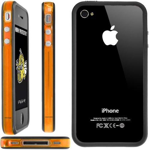 Horny Protectors Bumper con bottoni in metallo per Apple iPhone 4(non 4S) arancione / nero trasparente