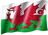 Flagge/Fahne WALES Staatsflagge/Landesflagge/Hissflagge mit Ösen 150x90 cm, sehr gute Qualität