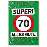 DankeDir! 70 Alles Gute - Kunststoff Schild (grün), Geschenk 70. Geburtstag, Geschenkidee Geburtstagsgeschenk Siebzigsten, Geburtstagsdeko/Partydeko / Party Zubehör/Geburtstagskarte