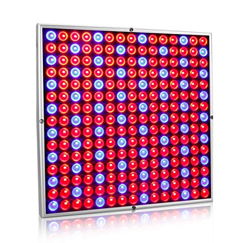 Exmate 45W 225 LED Grow Light Plant Growing Lamps Panel con Red & Blue Reflector Lampadine per Indoor Tenda Serra Succulente Piantine Fioritura Veg Bloom Hydroponic Garden Sliver