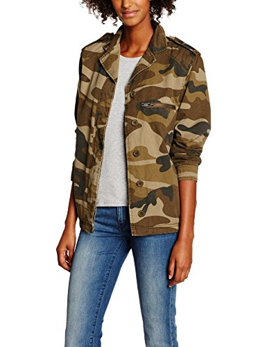 New Look Borg Lined Camo, Vestes Femme Green (green Pattern)