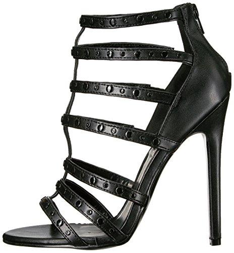 Pleaser SEXY-15 Stiletto Heel Sandalette, Matt-Schwarz, 35-44 -