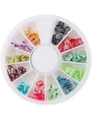 Lalang 3D Fimo Stickers pour Manucure Nail Art Decor (Papillon)