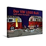 Premium Textil-Leinwand 45 cm x 30 cm quer, Ein Motiv aus dem Kalender Der VW LEGO Bulli und seine Kumpels | Wandbild, Bild auf Keilrahmen, Fertigbild Leinwand, Leinwanddruck (CALVENDO Hobbys)