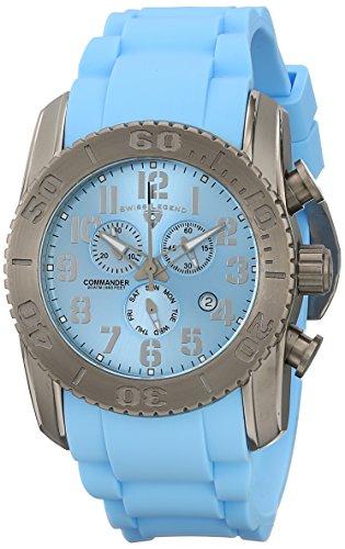 Swiss Legend 11876-ti-012–Orologio da uomo, cinturino in gomma colore blu