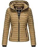 Marikoo Damen Jacke Steppjacke Übergangsjacke mit Kapuze gesteppt B600 (X-Small, Cinnamon)